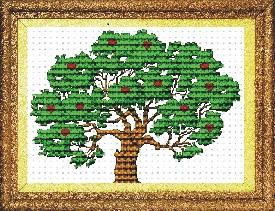 Tranh thêu chữ thập cây tình yêu