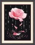 Tranh thêu chữ thập: Hoa hồng