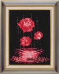 Tranh thêu chữ thập: Hoa hồng đỏ