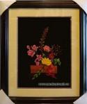 Tranh thêu Giỏ hoa lan