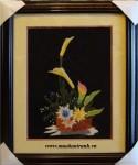 Tranh thêu giỏ hoa
