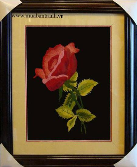Tranh thêu hoa hồng 2