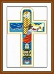 Tranh thêu chữ thập: Chúa chắp tay cầu nguyện – Thập Tự Gía