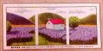 Tranh thêu chữ thập: Ngôi nhà và rừng hoa tím