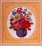 Tranh thêu chữ thập: Bình Hoa Đa Sắc Màu