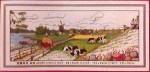 Tranh thêu chữ thập: Trang trại- Đàn Bò Sữa