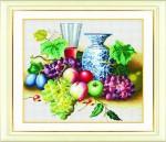 Tranh thêu chữ thập: Hoa quả (in màu) 2