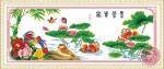 Tranh thêu chữ thập: Uyên ương (in màu)