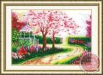 Tranh thêu chữ thập: Khu vườn mùa xuân