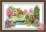 Tranh thêu chữ thập: Ngôi nhà nhỏ YF224